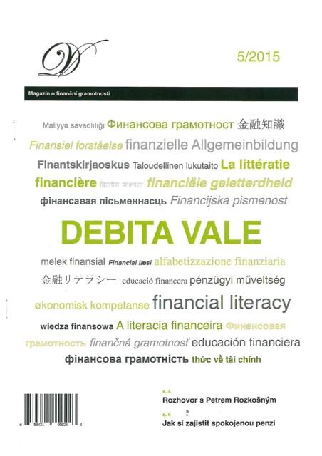 Titulní strana soutěžního časopisu DEBITA VALE 2015