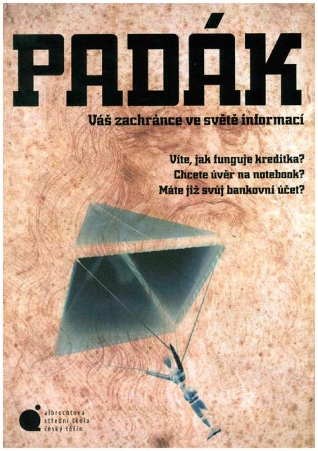 Titulní strana soutěžního časopisu PADÁK 2015