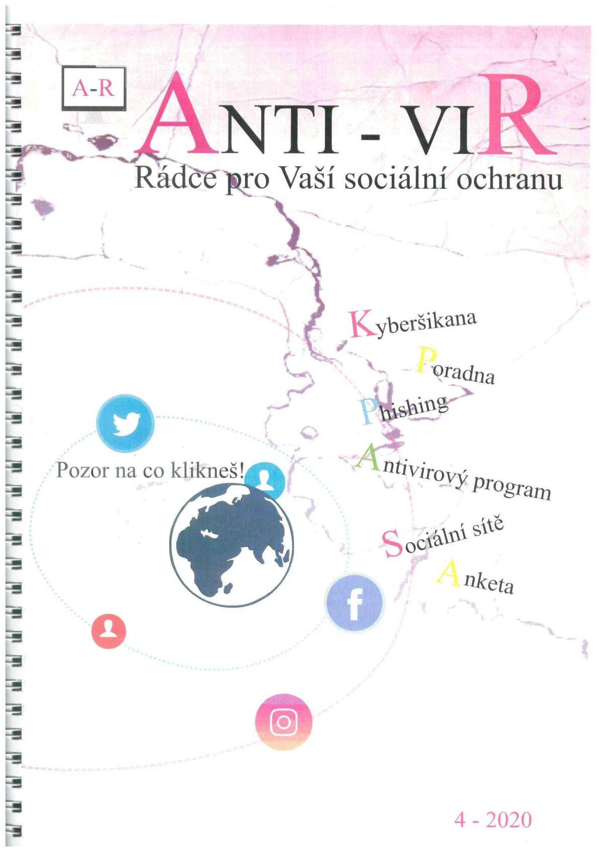 Titulní strana soutěžního časopisu ANTI - VIR