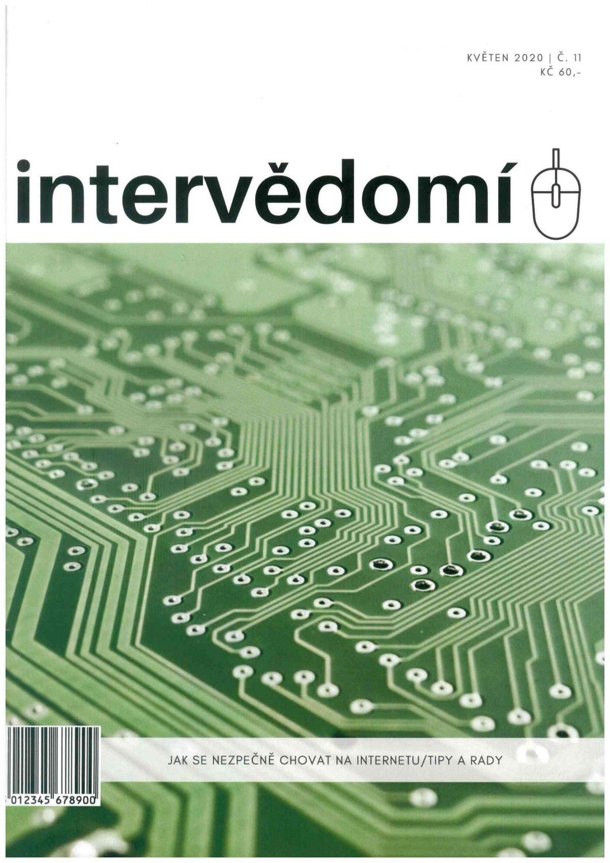 Titulní strana soutěžního časopisu intervedomi