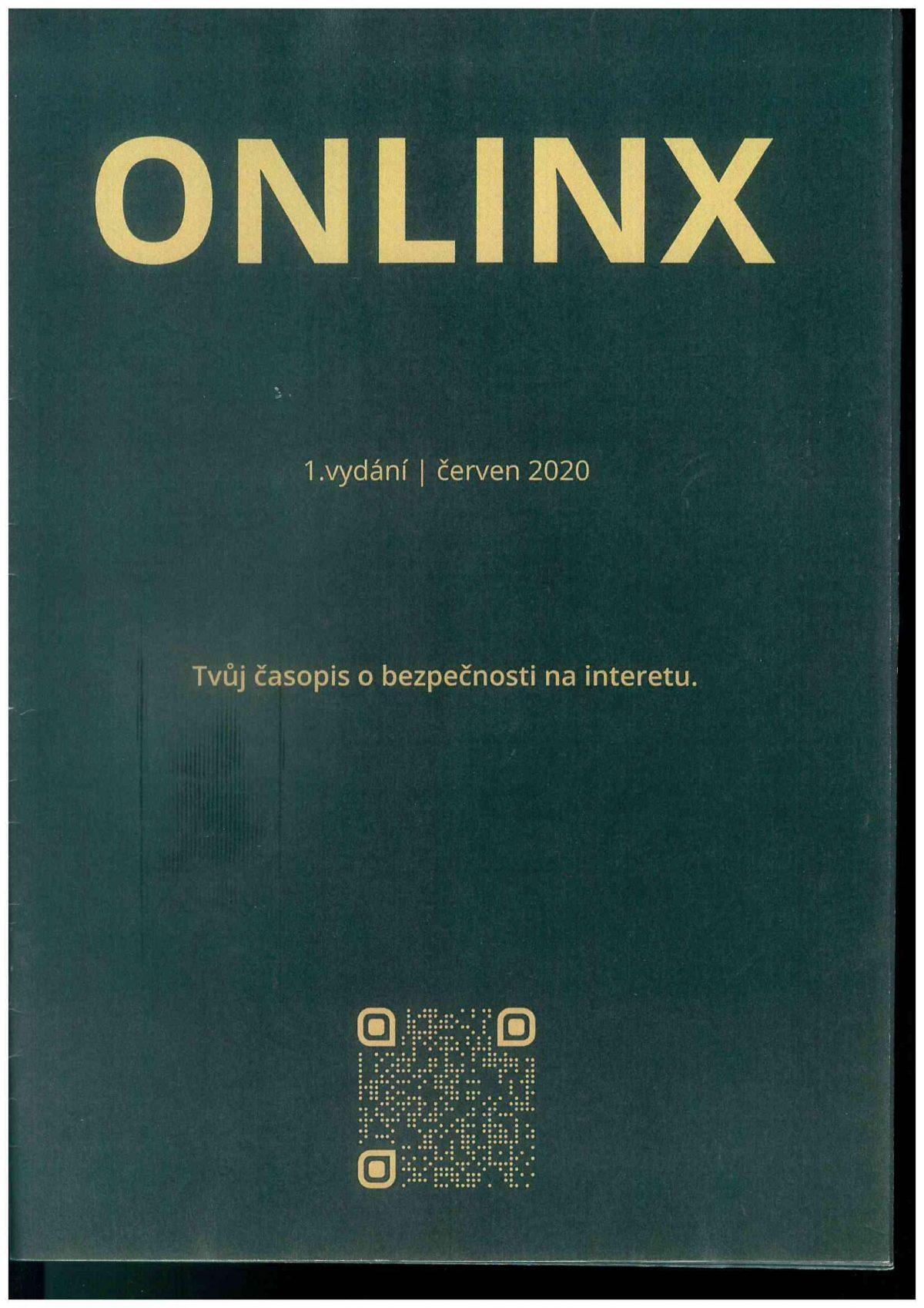 Titulní strana soutěžního časopisu ONLINX